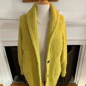 BANANA REPUBLIC soft cozy thick shawl collar cardi